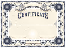 Certificate or Diploma Template Royalty Free Stock Image