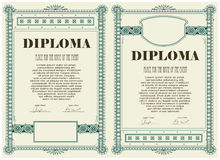Certificate or diploma template Stock Photography