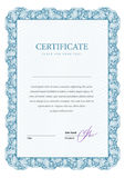Certificate and diplomas template. Vector royalty free illustration
