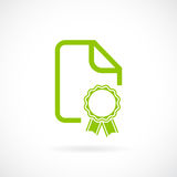 Certificate document vector icon Stock Images