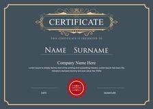 Certificate elegant flourishes vector border Stock Image