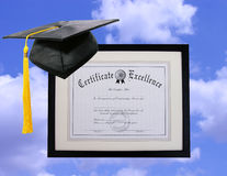 Certificate of Excellence Stock Image