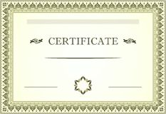 Certificate floral border and template design Stock Image