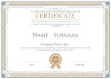 Certificate flourishes elegant vector template Stock Image