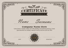 Certificate flourishes elegant vintage vector stock illustration