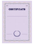 Certificate form template with guilloche background and guilloche elements. Royalty Free Stock Photos