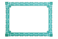 Certificate Frame. Blank certificate with a complex pattern of the corrugated thin lines Royalty Free Stock Image