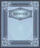 Certificate frame Royalty Free Stock Photo