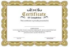 Certificate Frame Awards Stock Photos