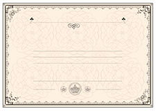 Certificate frame border Royalty Free Stock Photos