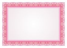 Certificate - Frame - Border. Certificate - Diploma Frame and Border with Pink / red color Royalty Free Stock Images