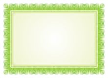 Certificate Frame - Border. Certificate - Diploma - wedding menu Frame and Border with Green color Stock Photography