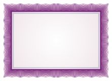 Certificate Frame - Border. Certificate - Diploma - wedding menu Frame and Border with purple color royalty free illustration