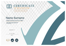 Certificate  frame design template layout template in A4 size Stock Photography