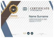 Certificate frame design template layout template in A4 size Stock Image