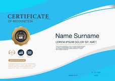Certificate frame design template layout template in A4 size Stock Images