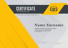 Certificate frame design template layout template in A4 size Royalty Free Stock Photography