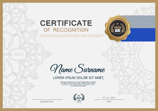 Certificate frame design template layout template in A4 size Royalty Free Stock Image