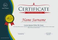 Certificate frame elegant design template. Elegant certificate of achievement frame design template Stock Photos