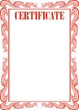 Certificate frame Stock Photography