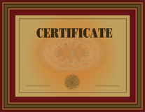 Certificate Frame Red Stock Photos
