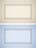 Certificate Frames. In blue and beige Stock Photo
