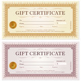 Certificate gift coupon template Royalty Free Stock Photography
