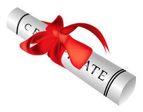 Certificate gift roll Royalty Free Stock Photo