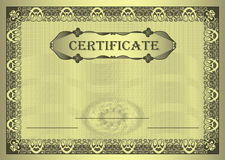 Certificate gold Frame ornament Royalty Free Stock Photos