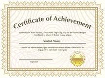 Certificate with golden seal vector Royalty Free Stock Photos