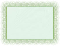 Certificate green document Stock Photo