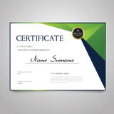 Certificate - horizontal elegant vector document Stock Images