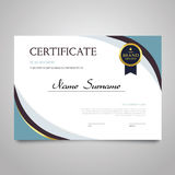 Certificate - horizontal elegant vector document Royalty Free Stock Image