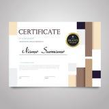 Certificate - horizontal elegant vector document. Certificate - modern horizontal elegant vector document with luxury design. Diploma of achievement Stock Photos