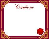 Certificate. Illustration of certificate border frame Stock Images