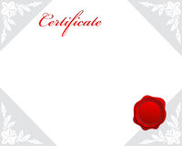 Certificate. Illustration of certificate border frame Royalty Free Stock Photos