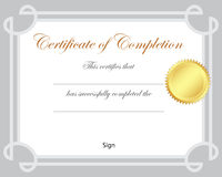 Certificate. Illustration certificate border frame suitable for students Stock Photography