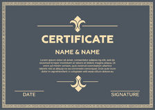 Certificate  illustration Royalty Free Stock Photos
