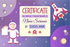 Certificate for a kids teaching game Royalty Free Stock Photography