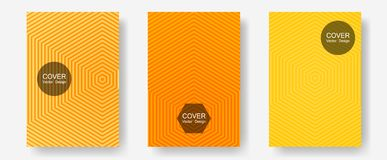 Certificate layouts vector graphic design set. Corporate catalogs. Halftone lines annual report templates. Balanced posh mockups. Flat lines shapes backgrounds vector illustration
