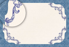 Certificate o espaço em branco Fotos de Stock Royalty Free