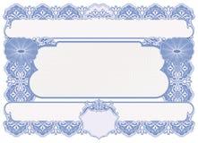 Certificate o espaço em branco Imagens de Stock