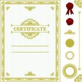 Certificate o molde. Imagem de Stock