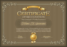 Free Certificate Of Recognition Vintage Frame. Royalty Free Stock Photo - 73971665
