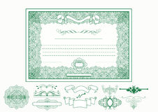 Certificate Or Coupon For Design Stock Image