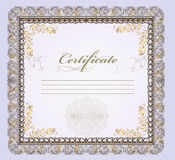 Certificate Or Gift Coupon With Place For Text For Design Royalty Free Stock Images