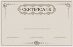 Certificate paper card Royalty Free Stock Images