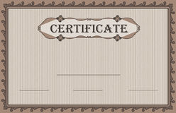 Certificate paper nature Royalty Free Stock Photo