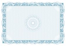 Certificate. pattern for currency and diplomas Royalty Free Stock Image