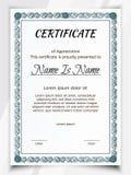 Certificate Potrait blue vector illustration